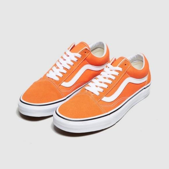 vans old school orange